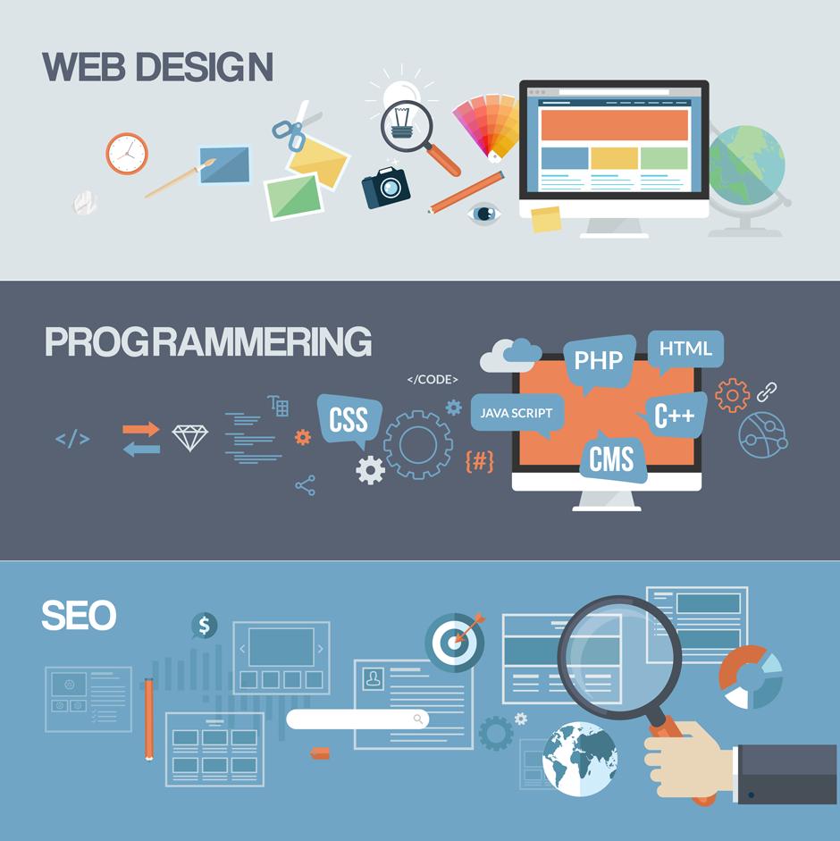 Vi er eksperter indenfor Web Design, Programmering & SEO